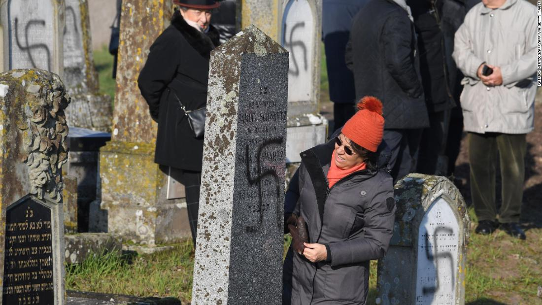 Over 100 graves defaced in Jewish cemetery in France