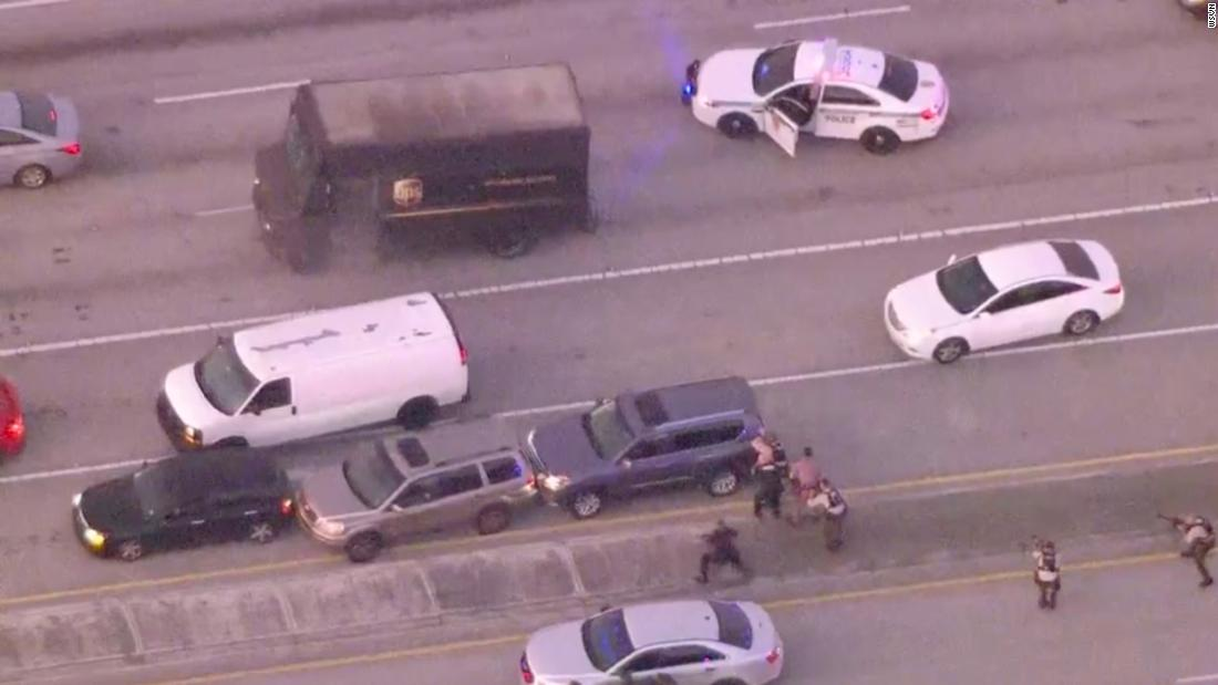 Police chase of hijacked UPS truck ends in fatal shootout