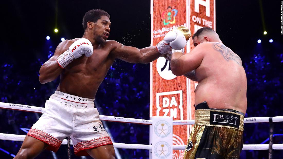 'Clash on the Dunes': Anthony Joshua wins rematch with Andy Ruiz Jr. in Saudi Arabia
