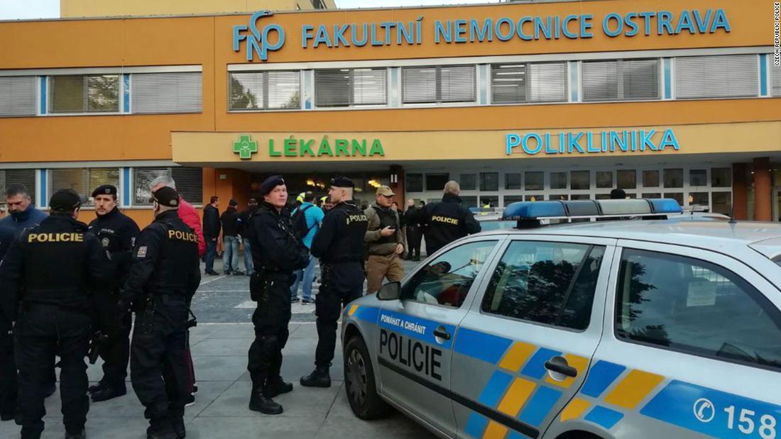 Czech hospital shooting: Gunman on the run after 6 killed